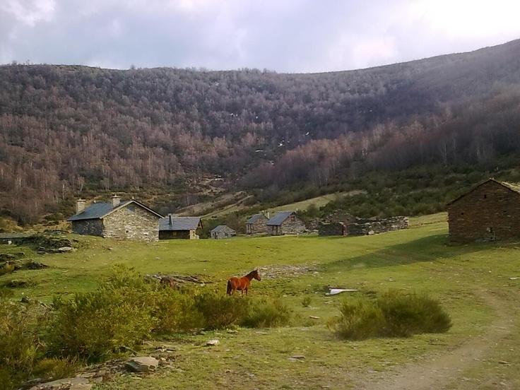 Braña de Buenverde, en la comarca de Laciana, León (Spain)