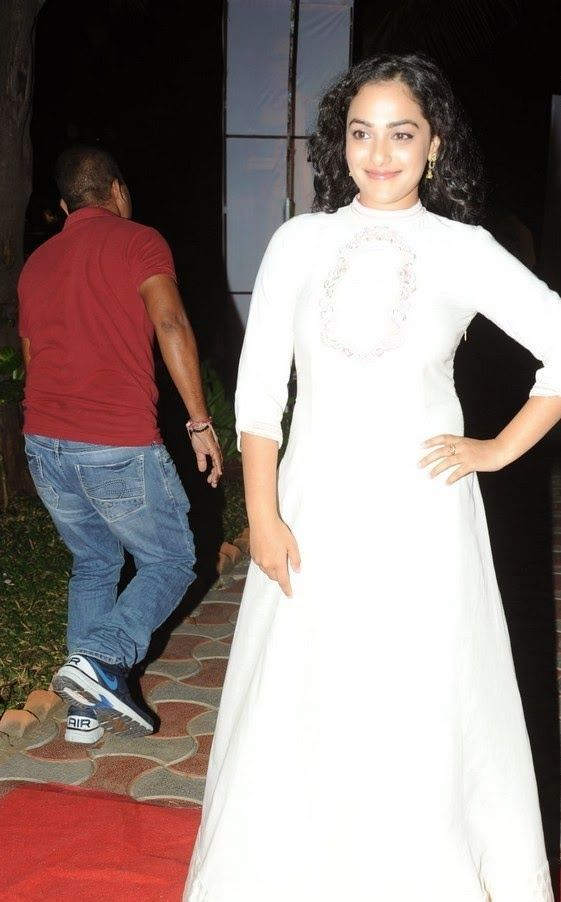Actress Nithya Menen Latest Cute Hot Exclusive Beautiful White Dress Spicy Photos Gallery