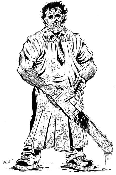 leatherface coloring pages - Google Search | Cute coloring ...