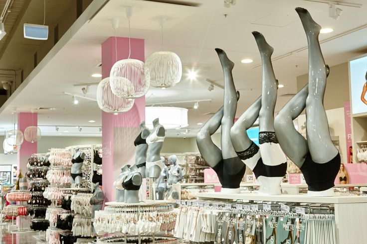 Lovely lingerie leg display from IDW