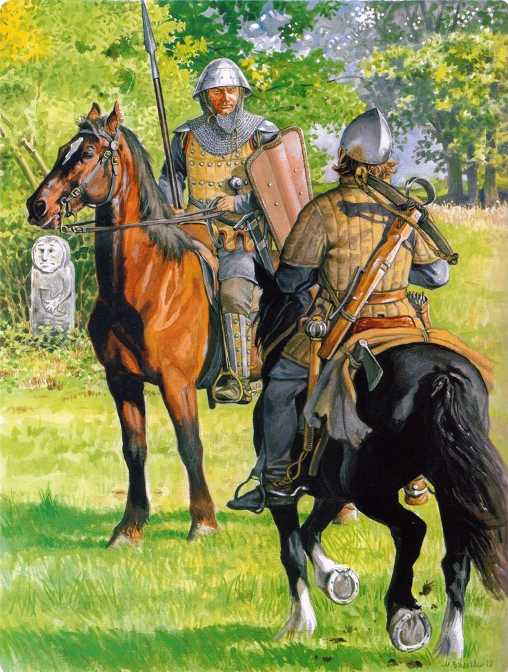 Lithuanian lancer and mounted crossbowman during the Northern Crusade