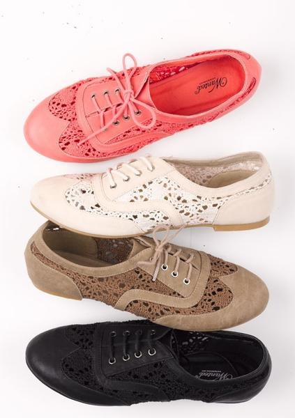 Colorful Lace Oxfords!