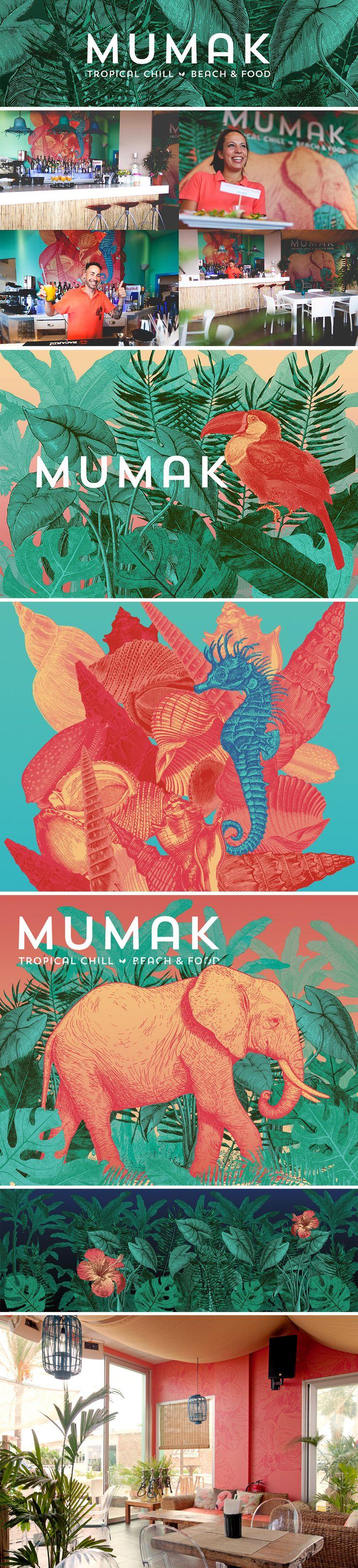 Brand for Mumak, a tropical restaurant in Ibiza
