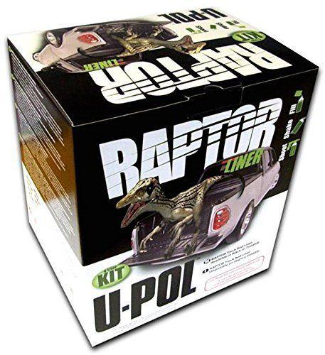 U-Pol Products 0825 RAPTOR Black 1.7 Voc Truck Bed Liner Kit - 4 Liter * More info could be found at the image url.
