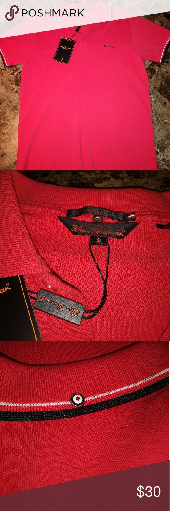 NWT Ben Sherman polo collared shirt Red Ben Sherman polo with black and white piping Ben Sherman Shirts Polos