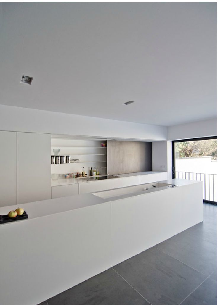 Kitchen with concealed shelving Ross Cassidy