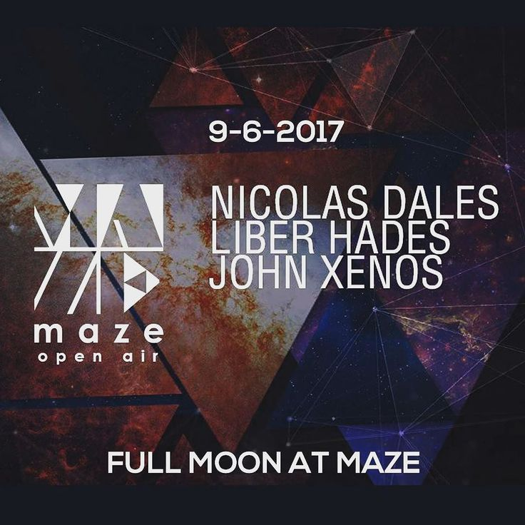 FULL MOON at MAZE: Nicolas Dales / Liber Hades / John Xenos  Find Your Way In... ΜΑΖΕ Open Air / Orfeos - Votanikos  Παρασκευή 09 Ιουνίου 2017  NICOLAS DALES http://ift.tt/2r3vfwu  LIBER HADES  JOHN XENOS  Entrance: 5 Euro (with Beer) / 7 Euro (with Drink)  Table Area: 80 Euro / 4 person  Powered by Funktion-One (Official)  Contact: 30 6940 890 275 /  club@mazeathens.com  Τo MAZE επανέρχεται ως το επιβλητικότερο open air dance stage της Αθήνας. Ένα καθαρά underground project το οποίο…