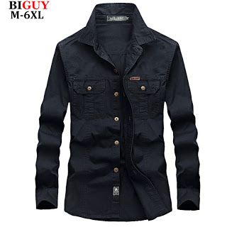4XL 5XL 6XL Plus Size Male Shirts Spring Cotton Casual Men Shirts Long Sleeve 2016 Vintage military style Mens Cargo Shirts 551 (32657515251)  SEE MORE  #SuperDeals