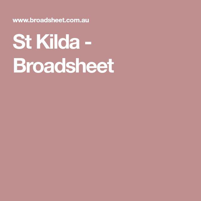 St Kilda - Broadsheet