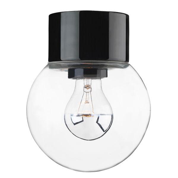 Porslinslampa med kupa och rak sockel (IP20). Ifö Electric AB?