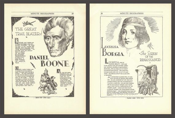 Daniel Boone Print Lucrezia Borgia Art History by DigitalArtLand