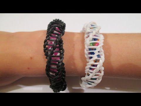 "▶ Rainbow Loom - Spirilla Bracelet (Variation of the ""Frozen"" bracelet by rainbow loom) - YouTube"