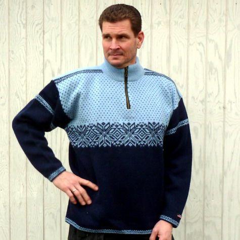 Norwool striktrøje ren uld strik
