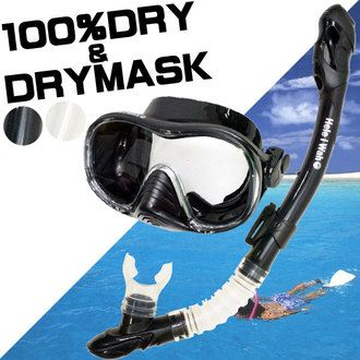 "AQROS Diving and Snorkeling | Rakuten Global Market: 40 hours only! Weekend SALE! Snorkel set ""100% dry snorkel, & dry masks snorkeling set 2 W dry snorkelling set"