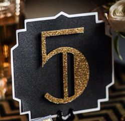 Les numéros de Table de mariage Great Gatsby