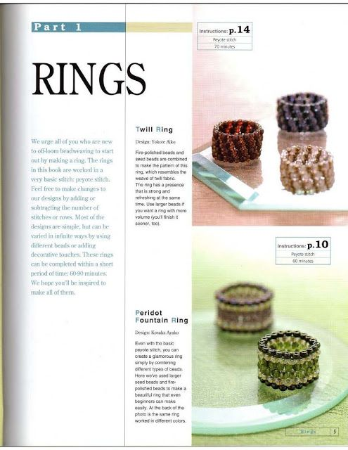 in-RHED-ando: How to make a beaded ring Straight