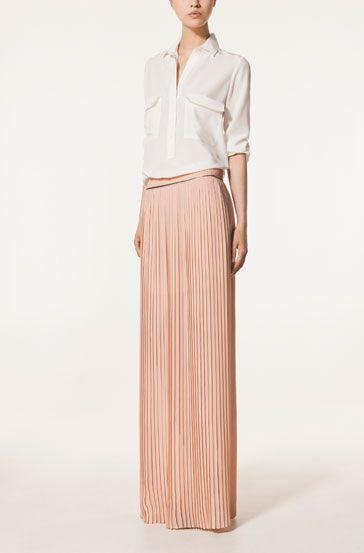 LONG PLEATED SKIRT - Skirts - New Season - WOMEN - United Kingdom