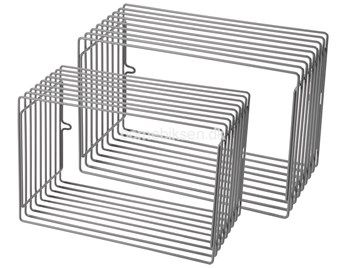 Done by Deer trådhylde i metal, 2 stk., grå