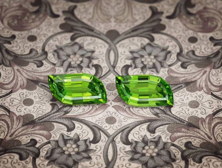 An elegant pair of Peridots from Pakistan.jpg