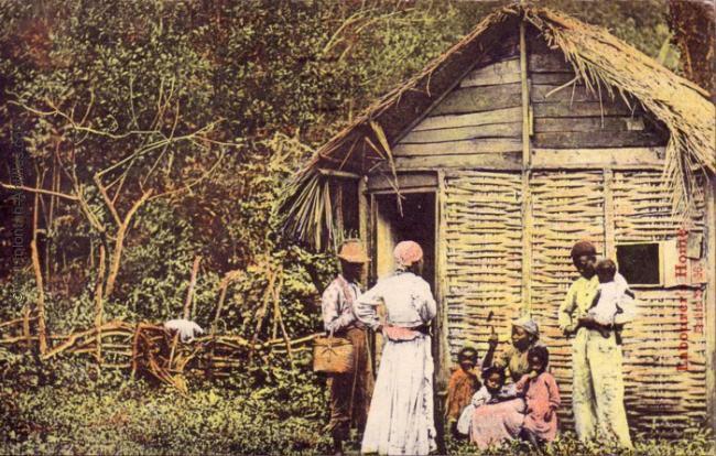A country house and a farmer family (Circa 1921) ( via )