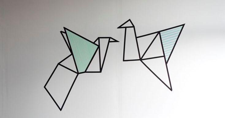 Pleins d'idées pour une déco masking tape DIY, bricolage et création avec du washi tape. Cadre, mur, porte, vase, tête de lit, jeux...