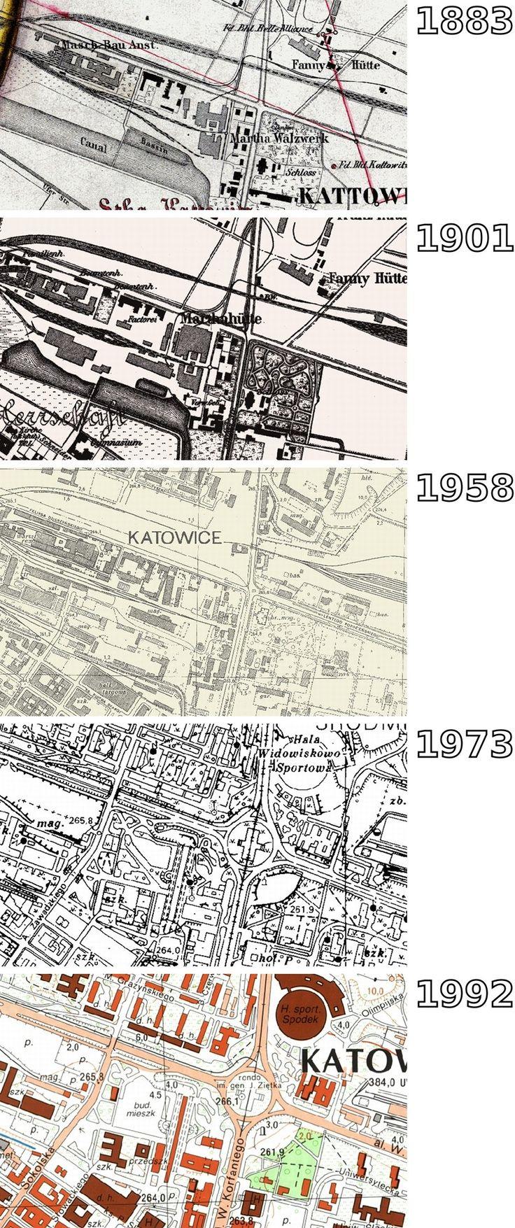 Zdjęcie nr 1 w galerii - Bagna i lasy zamiast osiedli, huta zamiast centrum. Jak zmieniały się Katowice? [STARE MAPY]