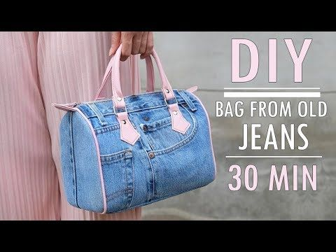 SWEET DIY JEANS PURSE BAG DESIGN Zipper Handbag Ou…