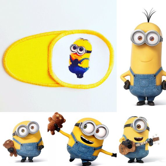 Eye patch for children with minions. Patch for от MalinkaArt