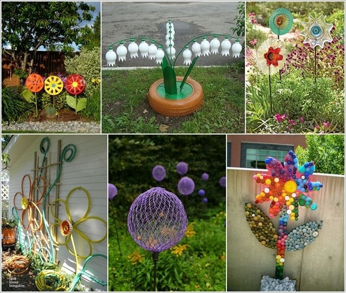10 Creative Diy Vegetable Gardening Hacks: 10 Creative Flower Crafts For Garden Made From Recycled