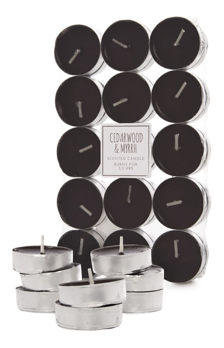 Economical 30 Pack Black Cedarwood Tealights Can Only Bought From Primark