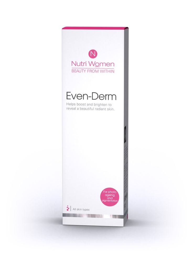 Even-DERM. from Nutriwomen. A specialty cream for pigmentation. Available through Dis-Chem pharmacies