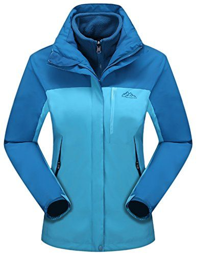 Z-SHOW Women's Waterproof Long 3 in 1 Ski Jacket Fleece Liner Warm Coat  //Price: $ & FREE Shipping //     #sports #sport #active #fit #football #soccer #basketball #ball #gametime   #fun #game #games #crowd #fans #play #playing #player #field #green #grass #score   #goal #action #kick #throw #pass #win #winning
