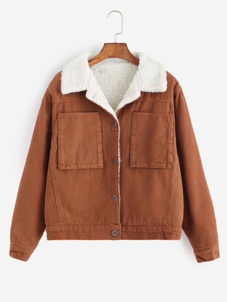 36$  Watch here - http://dit2a.justgood.pw/go.php?t=13090 - Khaki Single Breasted Sherpa Lined Jacket