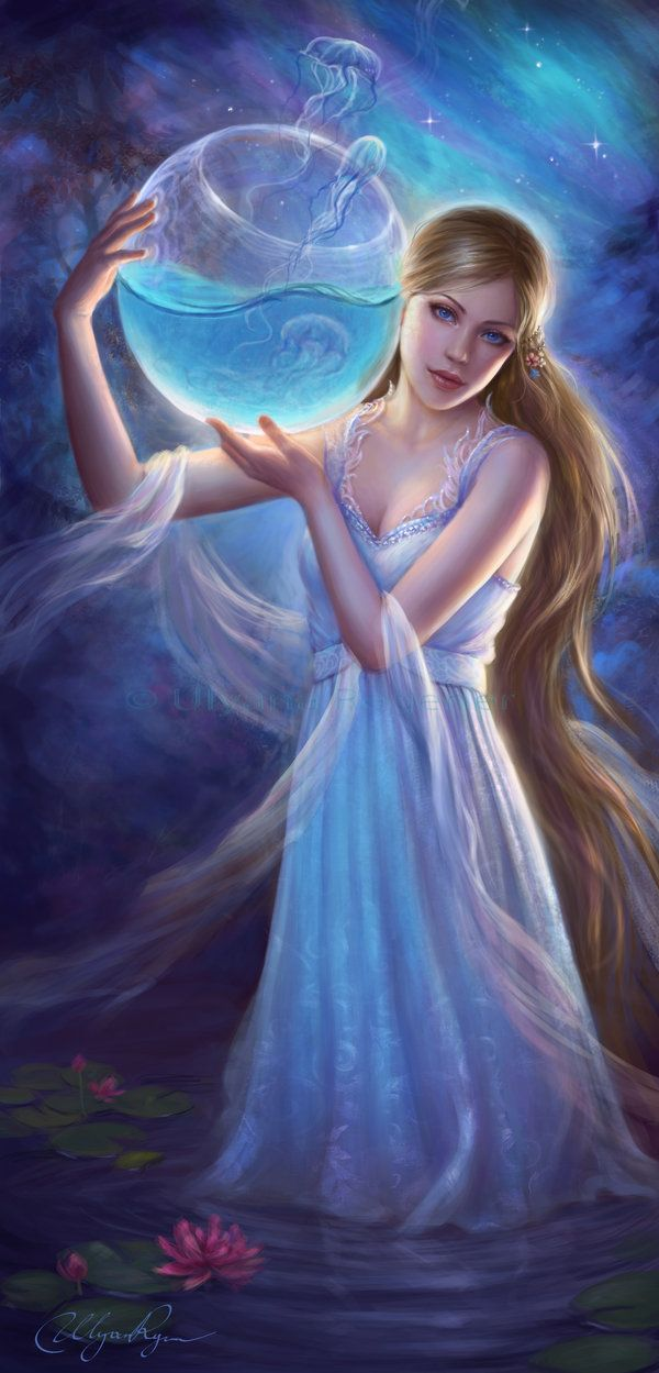 The Water Bearer, who fetches only the water that has been touched by the light of a moon.