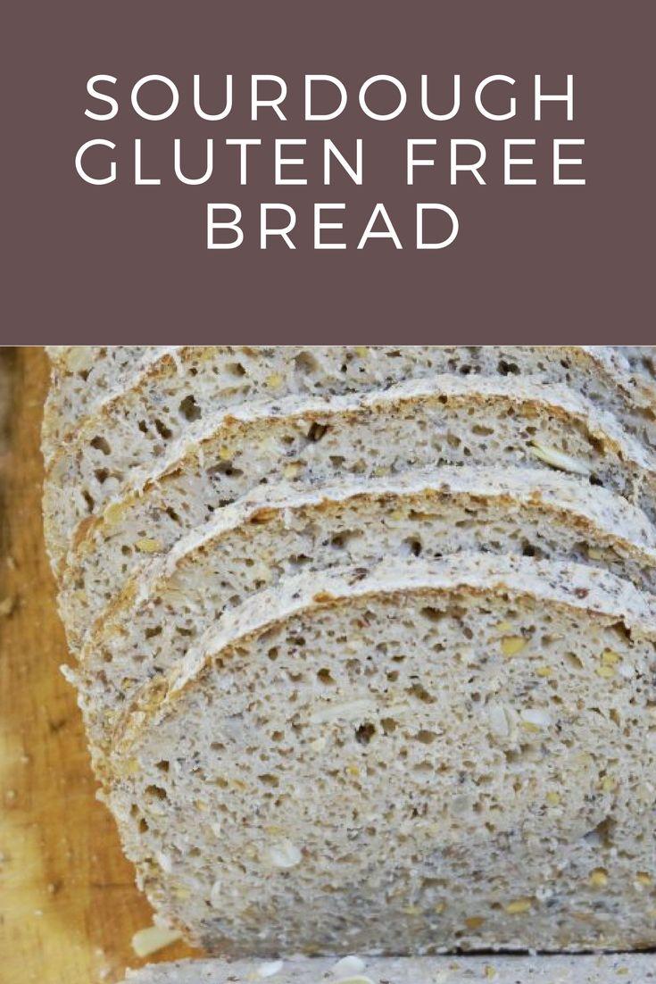 Sourdough gluten free bread with seeds. Chleb bezglutenowy z ziarnami na zakwasie.