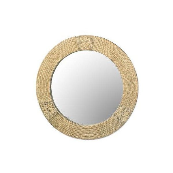 NOVICA Hand Crafted Sese Wood Round Adinkra Wall Mirror From Ghana (140  NZD) ❤