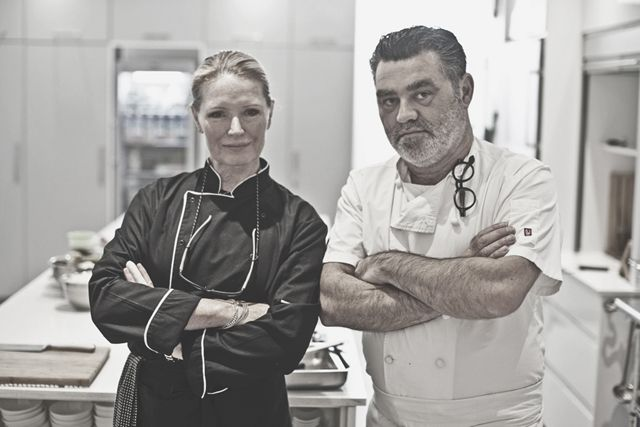 Denise Levy and Liam Tomlin (Chefs Warehouse and Canteen) at Ginger and Lime food studio in Cape Town. Photo by Adrian Shields