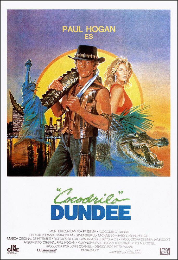 Crocodile Dundee Movie Poster Print 1986 Action Adventure 1 Sheet Artwork Ebay Cocodrilo Dundee Dundee Carteles De Peliculas Famosas