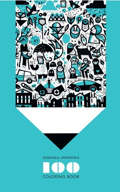 Children's book inspiration | 100 Coloring Book by Dominika Lipniewska.
