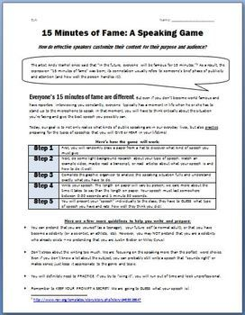 How to write a thesis statement worksheet middle school