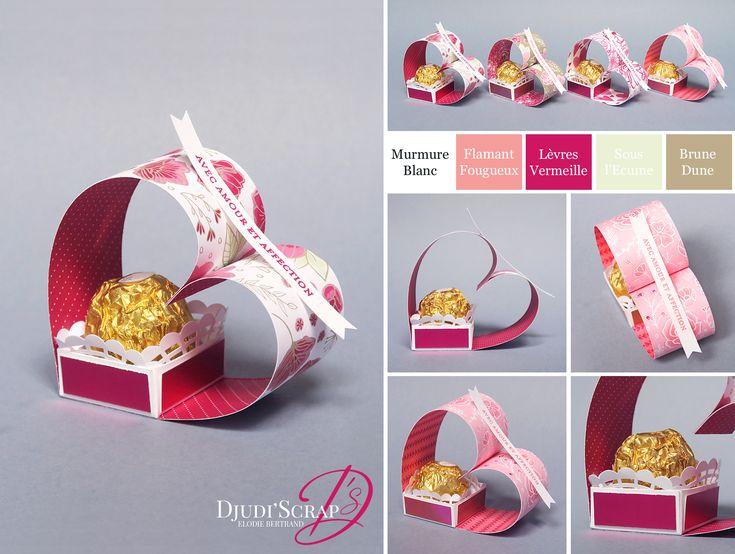 Tutoriel Petits Cadeaux Saint Valentin Coeur Ferrero Rocher « Papier De Tout Mon Coeur »