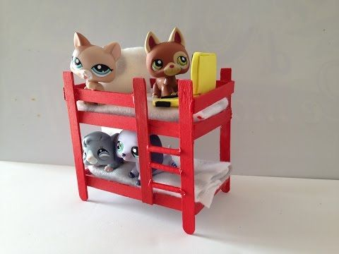 How to make a LPS bunk bed: LPS accessories - YouTube