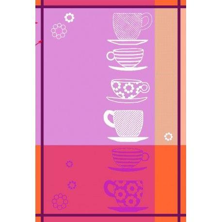 Paño de cocina Tazas. Divierte tu cocina con el diseño de tazas elegante y moderno con el paño de cocina Tazas de la firma Trovador, ideados para secar tu cristaleria y vajilla. Su tejido de sarga 100% algodón proporcionará una suavidad,