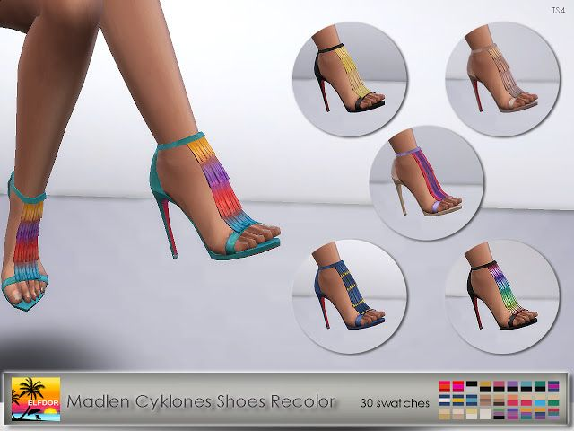 Madlen Cyklones Shoes Recolor at Elfdor Sims