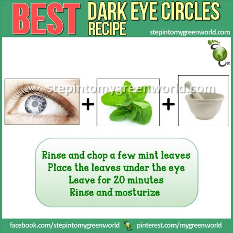 ☛ Do YOU have dark eye circles?  Here is a great, inexpensive Do It Yourself remedy.  FOR MORE TIPS ON HOW TO PREVENT DARK EYE CIRCLES:  http://www.stepintomygreenworld.com/greenliving/greenbeauty/get-rid-of-dark-eye-circles/  ✒ Share | Like | Re-pin | Comment