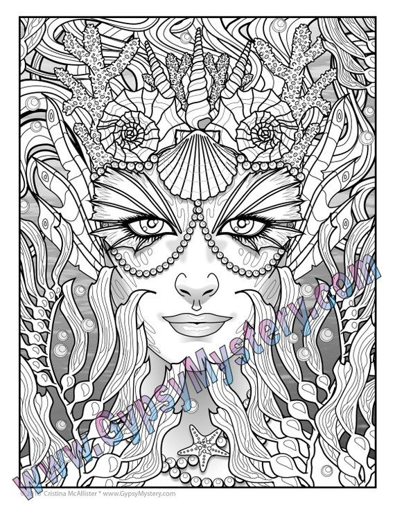 Single Coloring Page Siren From The Magical Beauties Collection