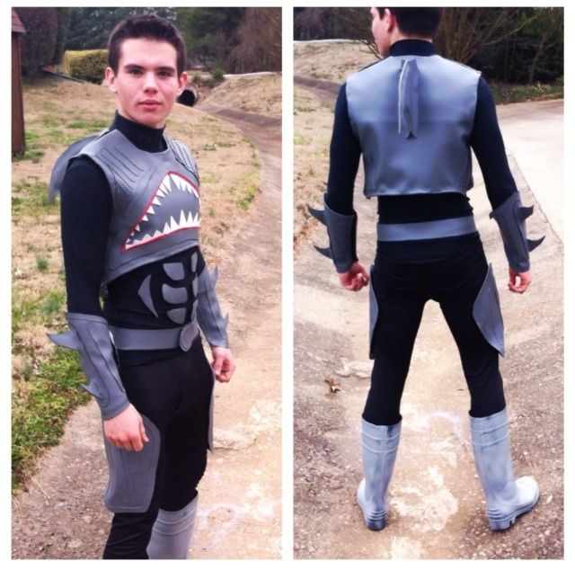 Decided to make a sharkboy costume for superhero day at my high school.please comment this is my first real costume I've made