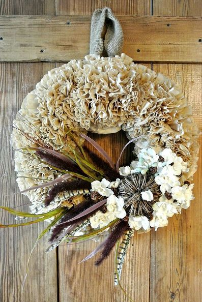 how to make a coffee filter wreath, crafts, seasonal holiday decor, wreaths