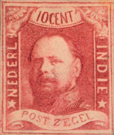 Netherlands Indies 1864. King Wilhelm III. 10 Cent