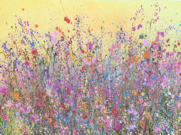 Brand new tangerine skies oil painting is out now signed and titled by uk flower artist yvonne coomber a spectacular zesty wild flowerscape